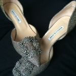 My biggest splurge was getting these Manolo shoes. Broke the bank for foodie Lauren's wedding!