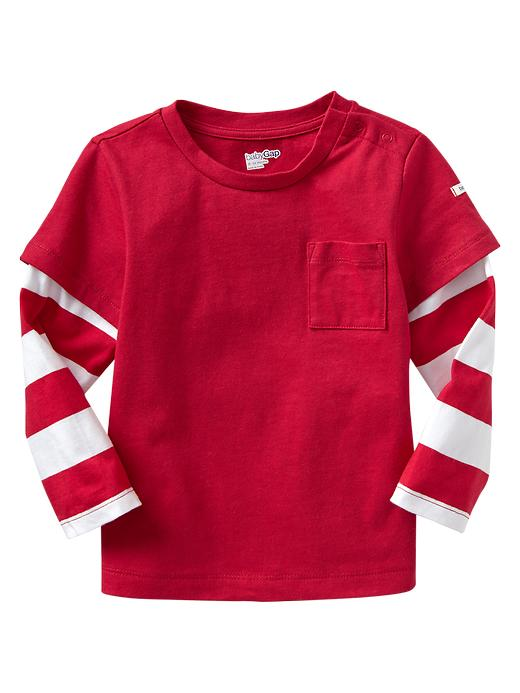 A cute red shirt from Baby Gap is a great gift for that playful little boy!