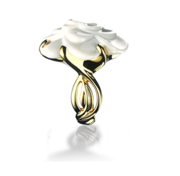 You can never go wrong with jewelry! Here is a fun ring from Chanel that is sure to make a statement :)