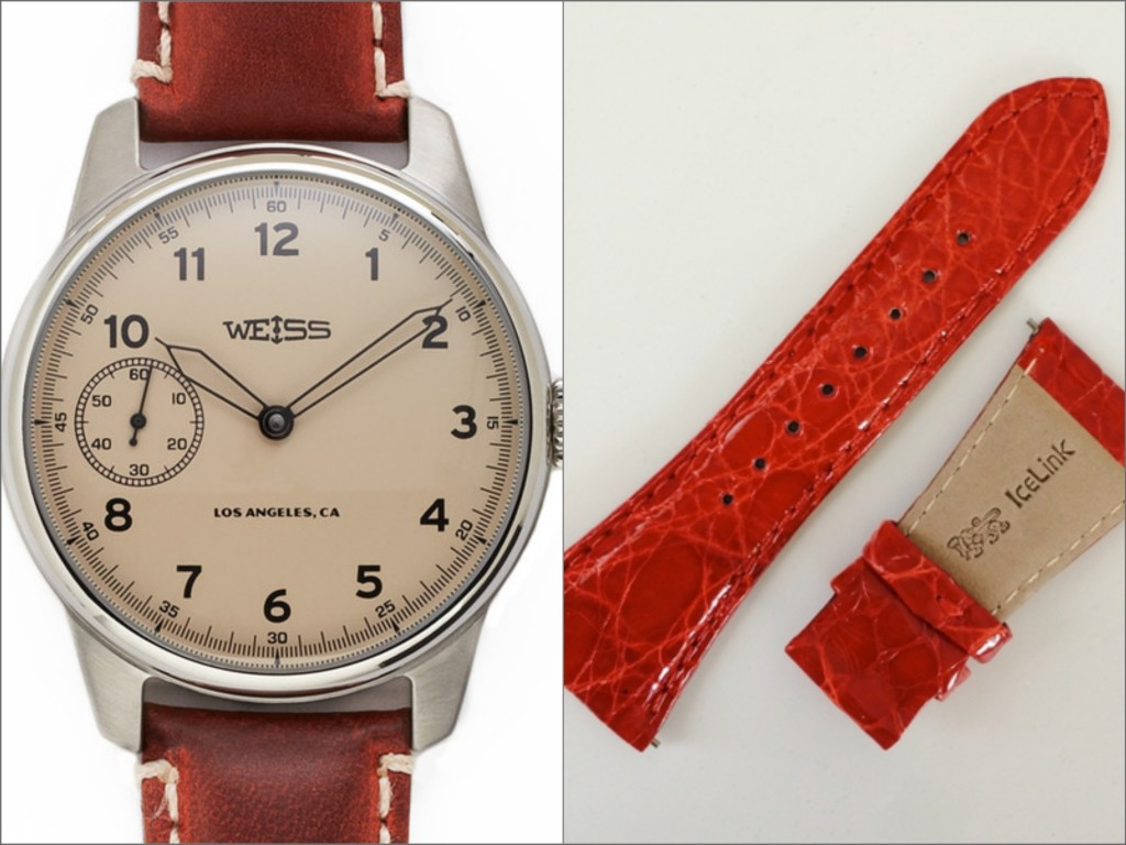Here we have this Weiss Watch that can be paired with this Ice link band to turn into a great Valentines Day accessory.