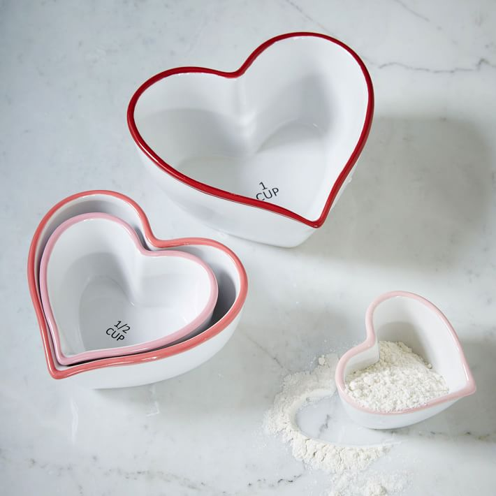 Heart shaped measuring cups are a fabulous way to cook any meal...specially those Valentines Day treats!
