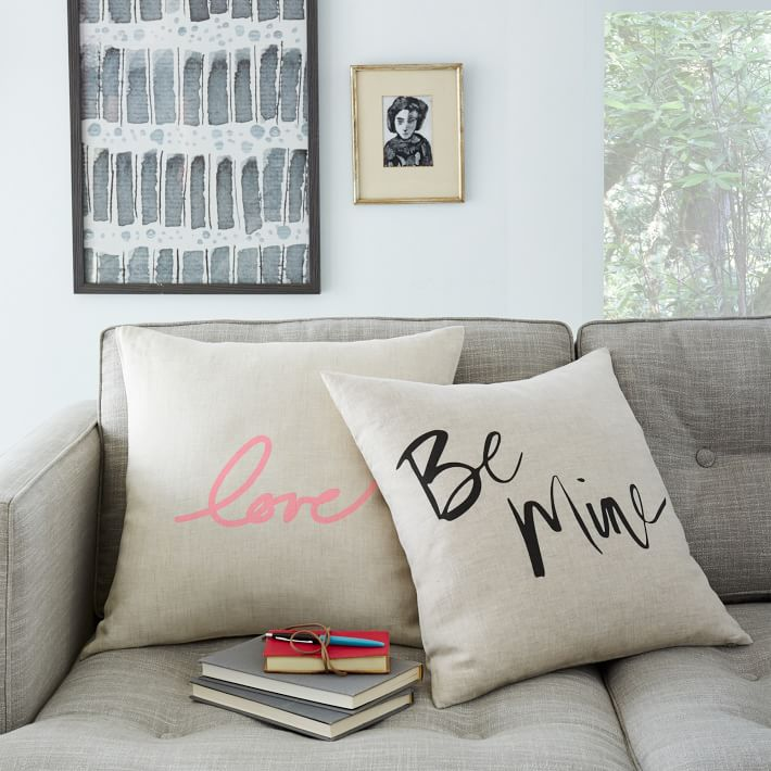 Simple Valentines Day inspired pillow are a great touch to make any room festive. These pillows from West Elm are perfect for any decor.
