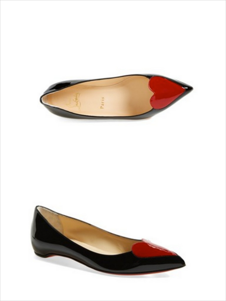 Everyone loves a new pair of shoes! These Christian Louboutin heart flats are a perfect touch to any wardrobe.